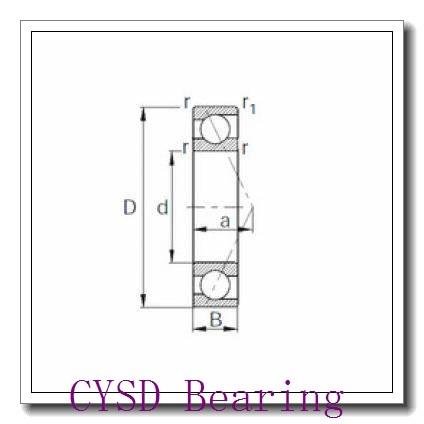 30 mm x 62 mm x 16 mm  CYSD 6206-ZZ deep groove ball bearings
