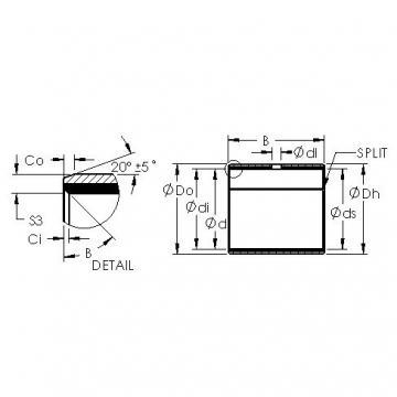 AST AST40 6540 plain bearings