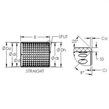 AST ASTT90 11070 plain bearings