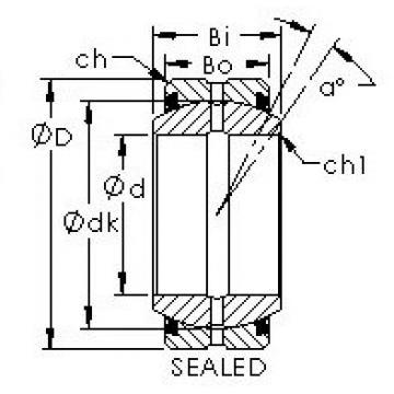 AST GEZ82ES-2RS plain bearings