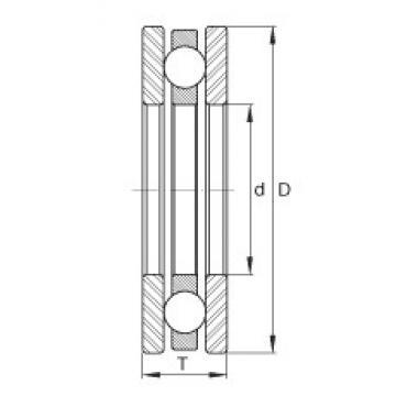 INA FT8 thrust ball bearings