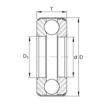 INA B13 thrust ball bearings