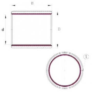 25 mm x 28 mm x 50 mm  INA EGB2550-E40 plain bearings