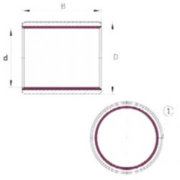 6 mm x 8 mm x 10 mm  INA EGB0610-E40 plain bearings