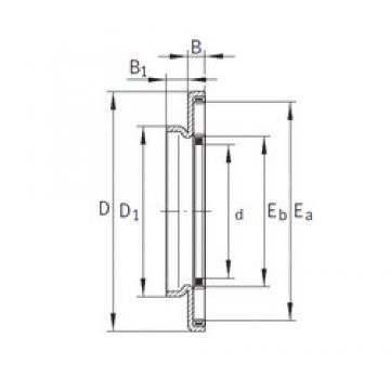 30 mm x 50 mm x 3,2 mm  INA AXW30 needle roller bearings