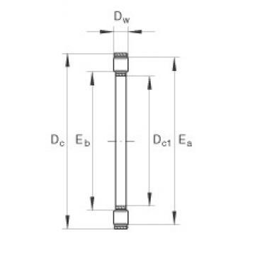INA K81126-TV thrust roller bearings