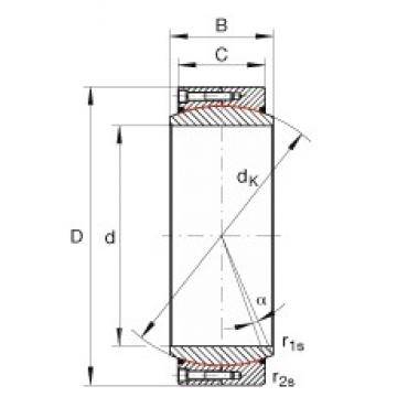 INA GE950-DW-2RS2 plain bearings