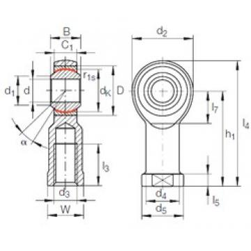 5 mm x 13 mm x 8 mm  INA GIKFR 5 PW plain bearings