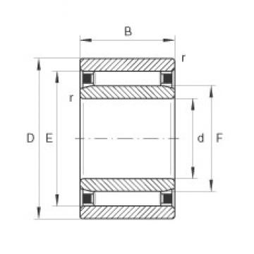 9 mm x 22 mm x 12 mm  INA NAO9X22X12-TV needle roller bearings