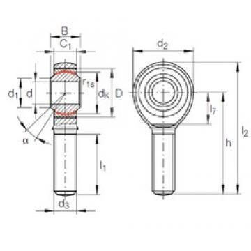 16 mm x 32 mm x 21 mm  INA GAKR 16 PW plain bearings