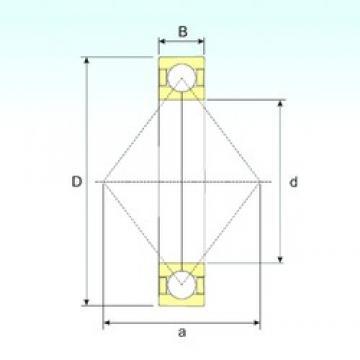 95 mm x 200 mm x 45 mm  ISB QJ 319 N2 M angular contact ball bearings