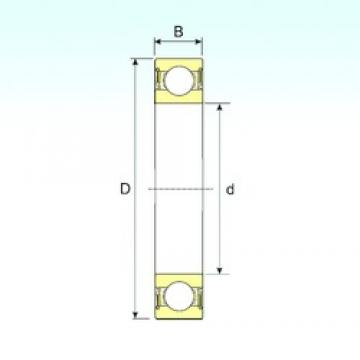 12 mm x 37 mm x 12 mm  ISB 6301-2RS deep groove ball bearings