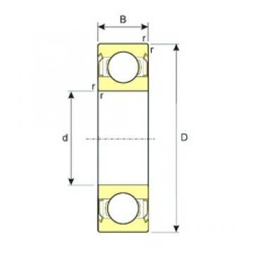 105 mm x 160 mm x 26 mm  ISB 6021-ZZ deep groove ball bearings
