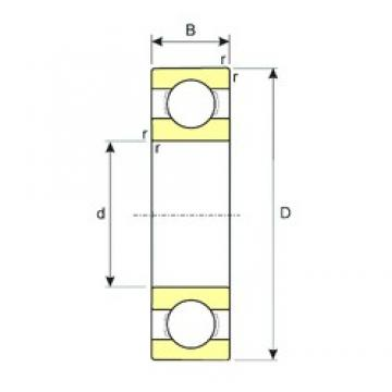 140 mm x 210 mm x 22 mm  ISB 16028 deep groove ball bearings
