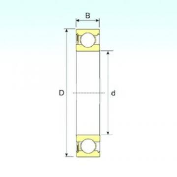 90 mm x 160 mm x 30 mm  ISB 6218-RS deep groove ball bearings