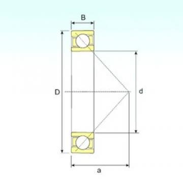 180 mm x 320 mm x 52 mm  ISB 7236 B angular contact ball bearings