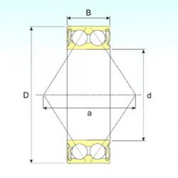 50 mm x 90 mm x 30,2 mm  ISB 3210-2RS angular contact ball bearings