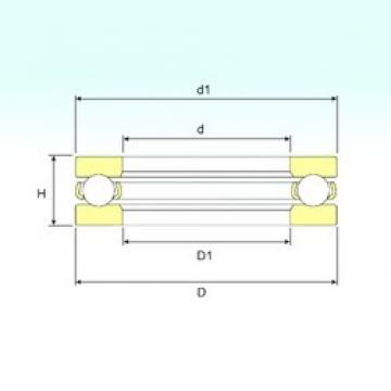 ISB 51132 M thrust ball bearings
