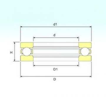 ISB 51406 thrust ball bearings