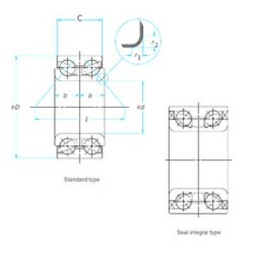 35 mm x 66 mm x 37 mm  FAG 546238 angular contact ball bearings