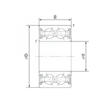40 mm x 66 mm x 24 mm  CYSD 4608-5AC2RS angular contact ball bearings