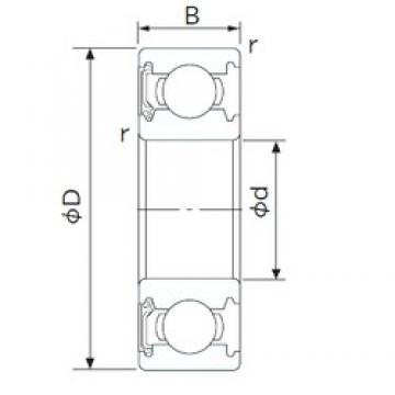 40 mm x 62 mm x 12 mm  CYSD 6908-RS deep groove ball bearings