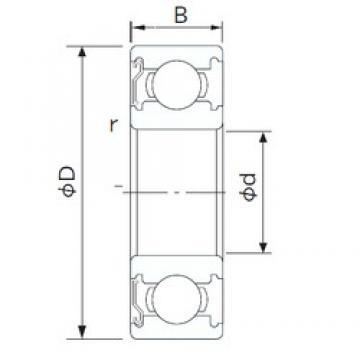 90 mm x 125 mm x 18 mm  CYSD 6918-Z deep groove ball bearings