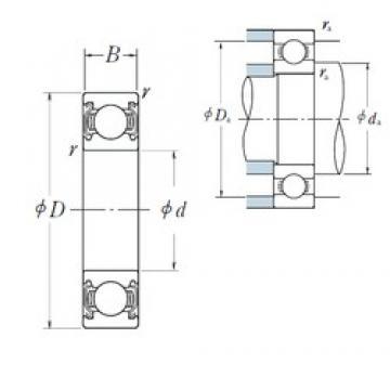 50 mm x 65 mm x 7 mm  NSK 6810ZZ deep groove ball bearings