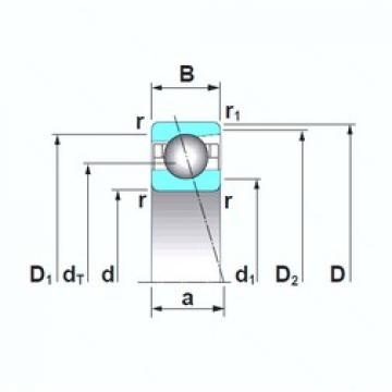 130 mm x 200 mm x 33 mm  NSK 7026CTRSU angular contact ball bearings
