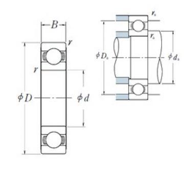 380 mm x 560 mm x 82 mm  NSK 6076 deep groove ball bearings