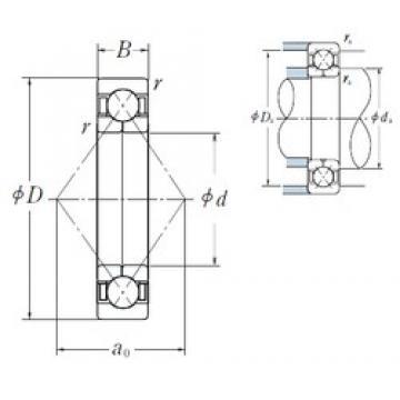 170 mm x 260 mm x 42 mm  NSK QJ 1034 angular contact ball bearings