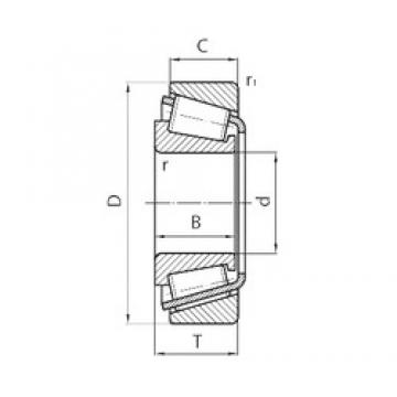 50 mm x 110 mm x 27 mm  CYSD 30310 tapered roller bearings