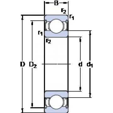 50 mm x 80 mm x 16 mm  SKF W 6010-2Z deep groove ball bearings