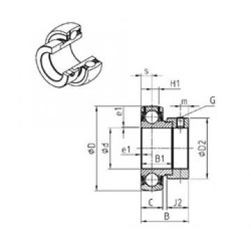 60 mm x 110 mm x 49,3 mm  SNR ES212 deep groove ball bearings