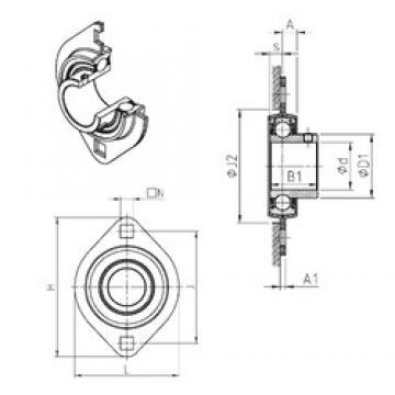 SNR USPFL206 bearing units