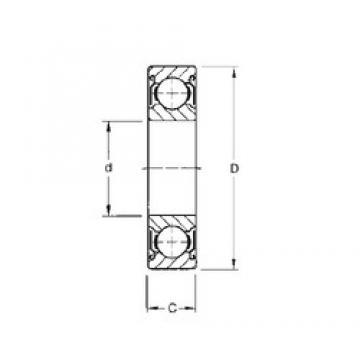12,7 mm x 28,575 mm x 7,938 mm  CYSD R8-ZZ deep groove ball bearings