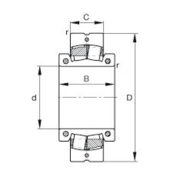 15 inch x 600 mm x 225 mm  FAG 230S.1500 spherical roller bearings