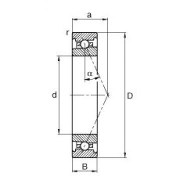 12 mm x 24 mm x 6 mm  FAG HS71901-E-T-P4S angular contact ball bearings