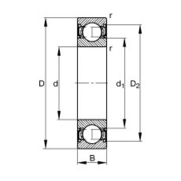 75 mm x 160 mm x 37 mm  FAG 6315-2RSR deep groove ball bearings