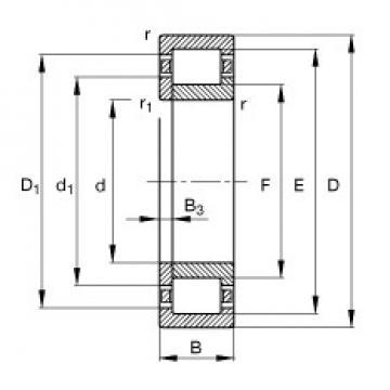 17 mm x 47 mm x 14 mm  FAG NUP303-E-TVP2 cylindrical roller bearings