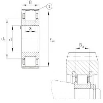 FAG RN232-E-MPBX cylindrical roller bearings