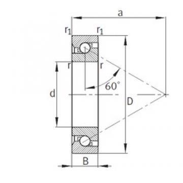 50 mm x 100 mm x 20 mm  FAG BSB050100-T thrust ball bearings