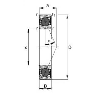 45 mm x 68 mm x 12 mm  FAG HCB71909-E-2RSD-T-P4S angular contact ball bearings