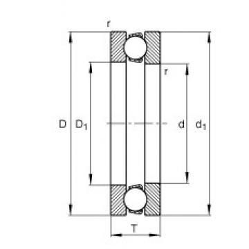 FAG 51212 thrust ball bearings