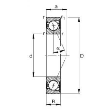 95 mm x 145 mm x 24 mm  FAG B7019-E-2RSD-T-P4S angular contact ball bearings