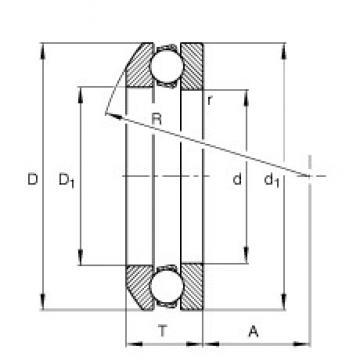 FAG 53213 thrust ball bearings