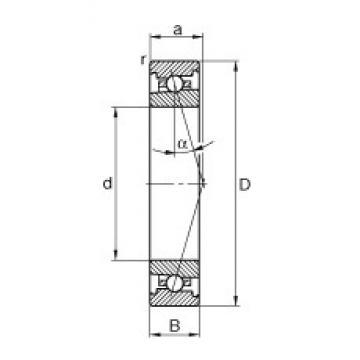 40 mm x 68 mm x 15 mm  FAG HS7008-C-T-P4S angular contact ball bearings