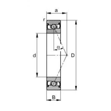 50 mm x 80 mm x 16 mm  FAG HCS7010-E-T-P4S angular contact ball bearings