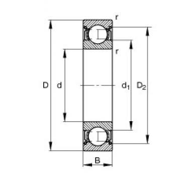 4 mm x 13 mm x 5 mm  FAG 624-2Z deep groove ball bearings