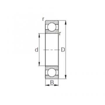 45 mm x 75 mm x 10 mm  CYSD 16009 deep groove ball bearings
